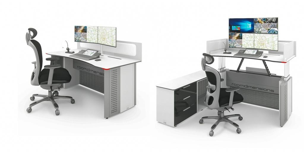 Специализированные эргономичные столы для диспетчерских и ситуационных центров