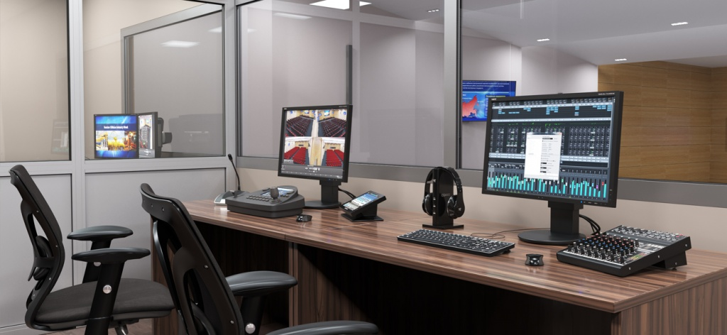 Рабочее место оператора в конференц- зале