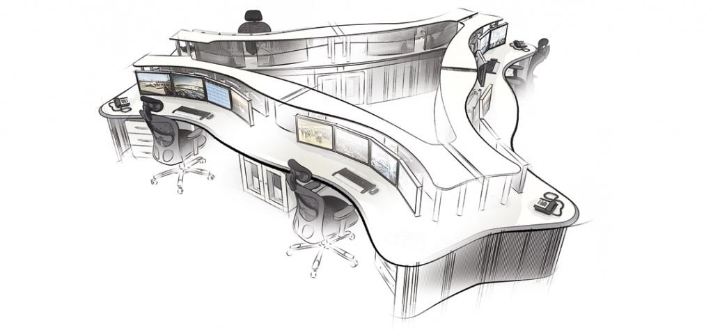 Специализированная эргономичная мебель для диспетчерских пунктов